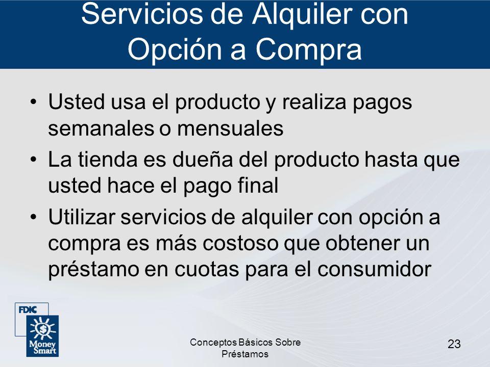 Servicios de Alquiler con Opción a Compra