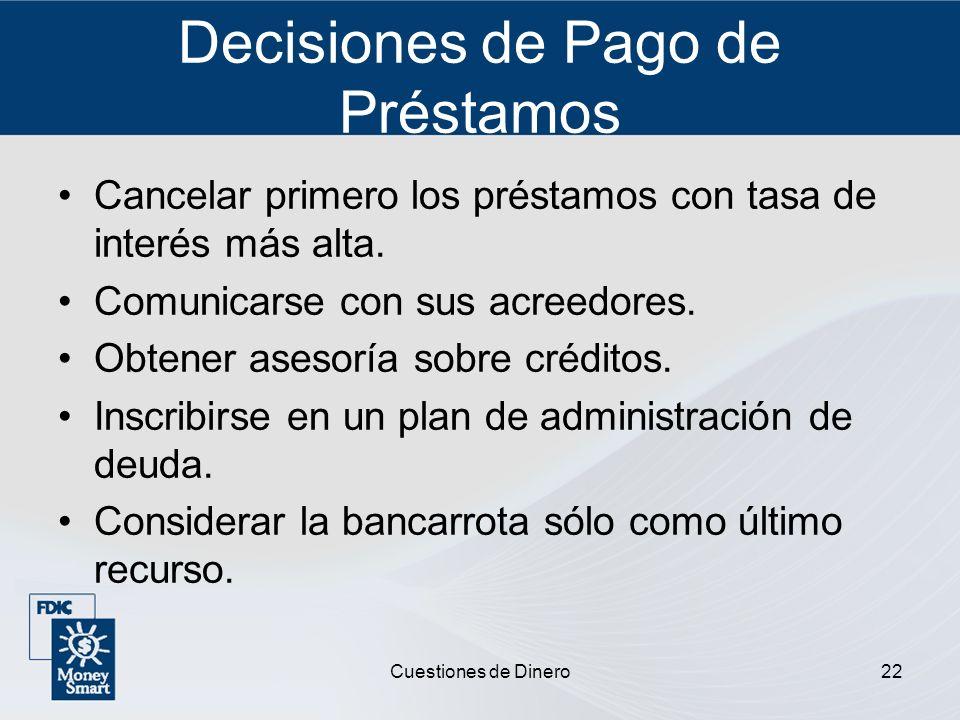 Decisiones de Pago de Préstamos