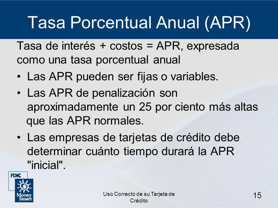 Tasa Porcentual Anual (APR)