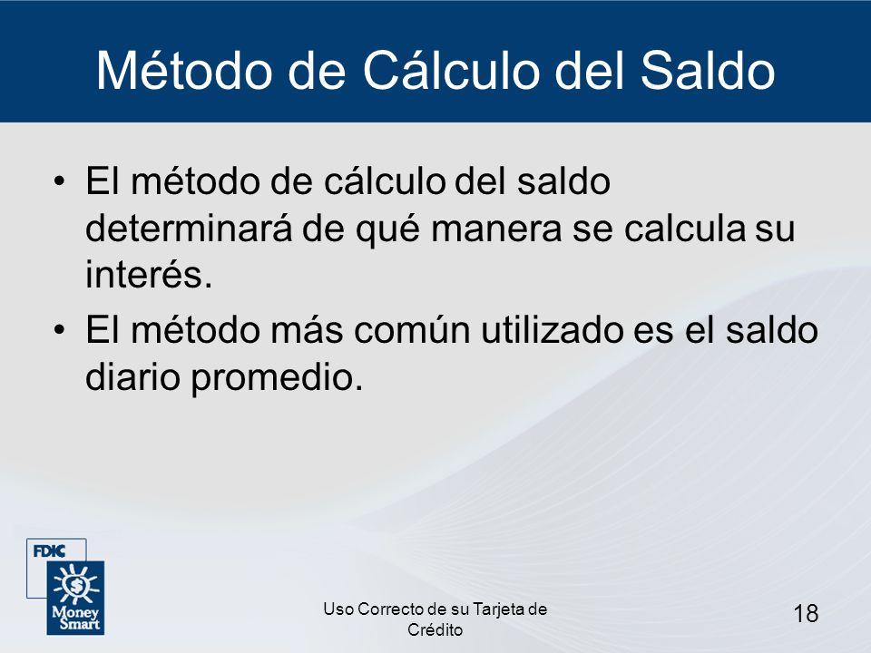 Método de Cálculo del Saldo