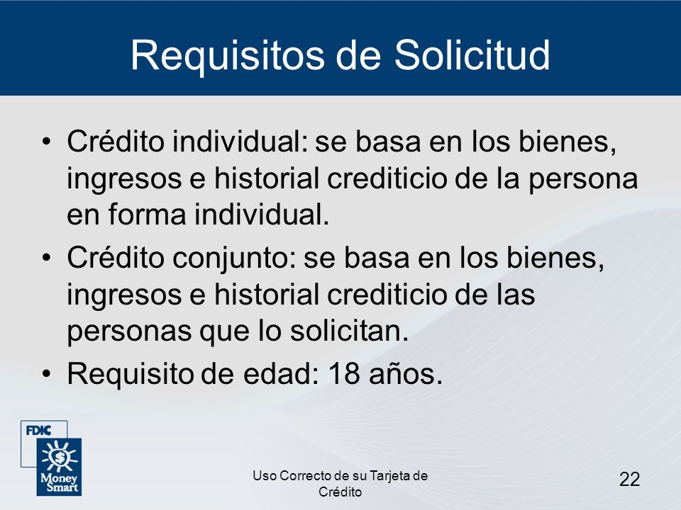 Requisitos de Solicitud