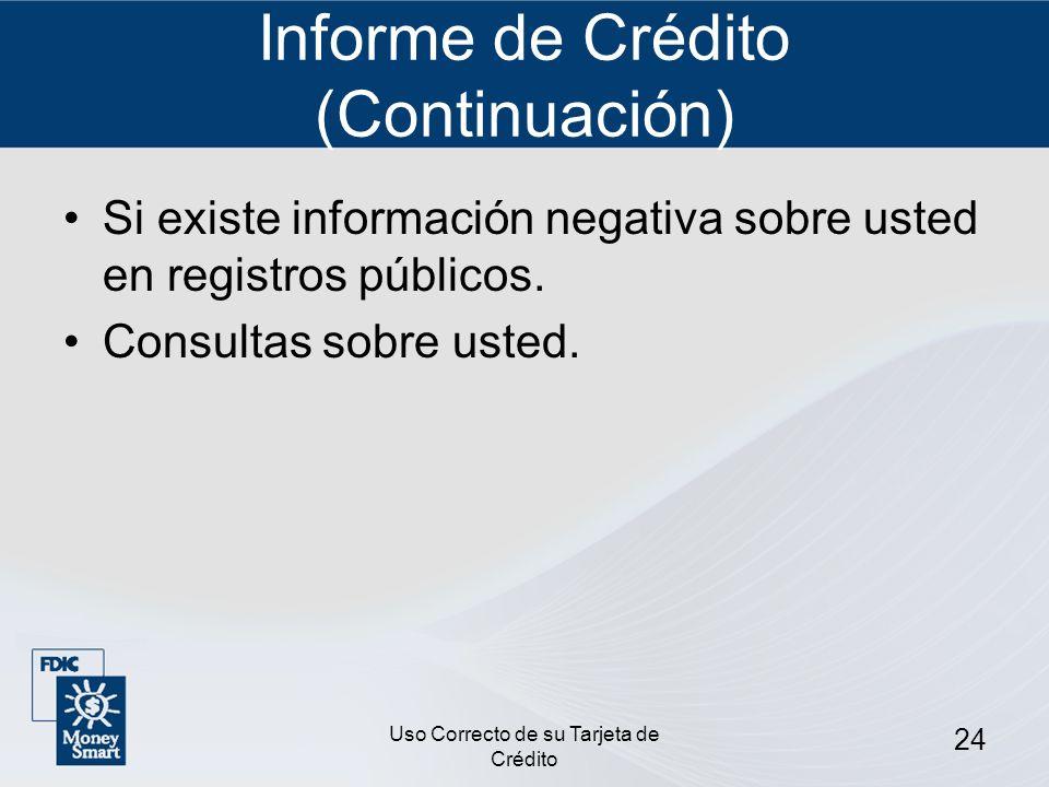 Informe de Crédito (Continuación)