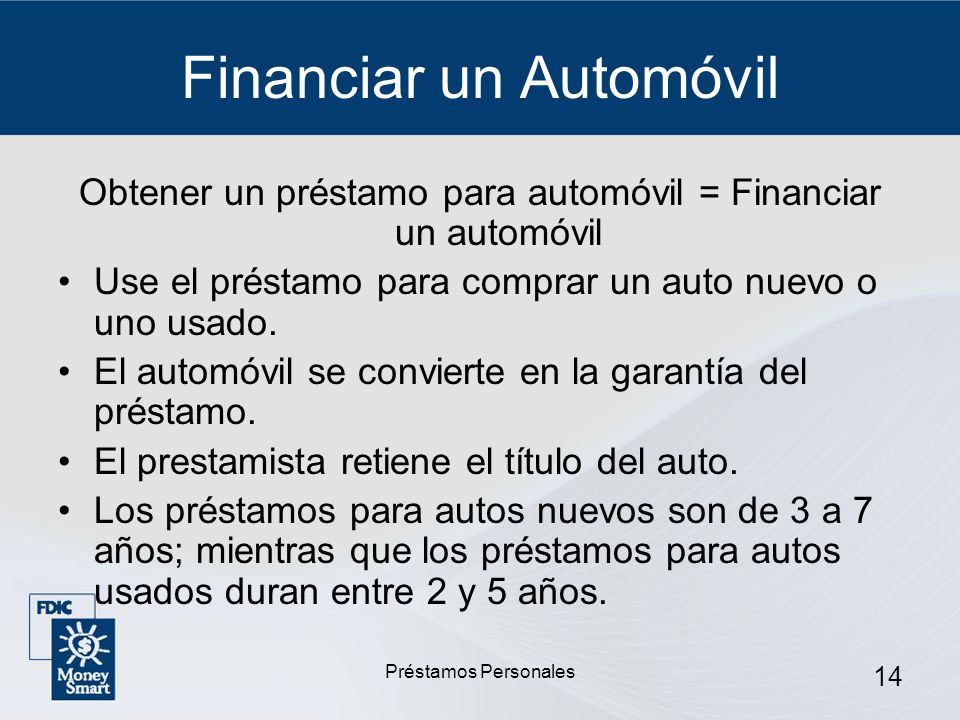 Financiar un Automóvil