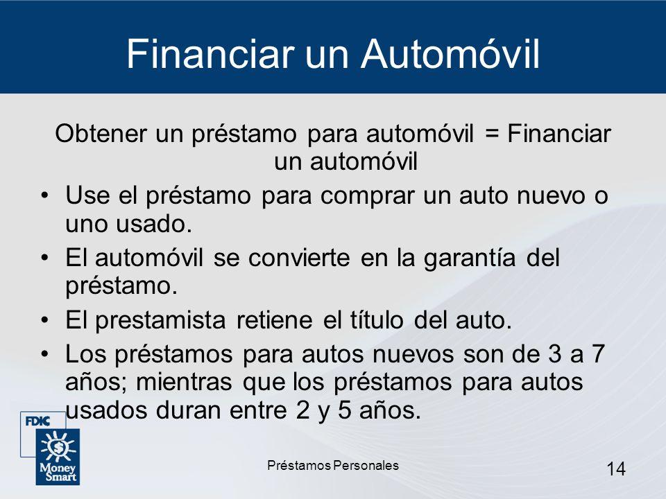 Financiar un Automóvil