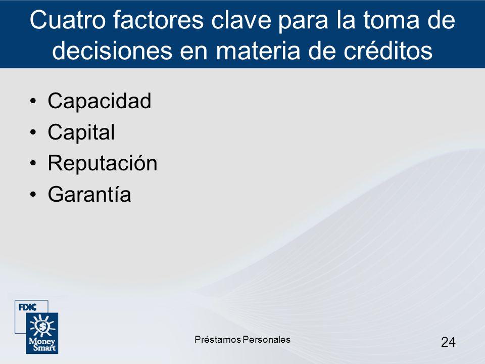 Cuatro factores clave para la toma de decisiones en materia de créditos