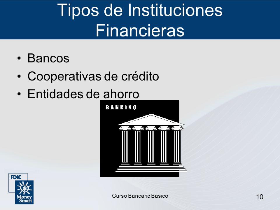 Tipos de Instituciones Financieras