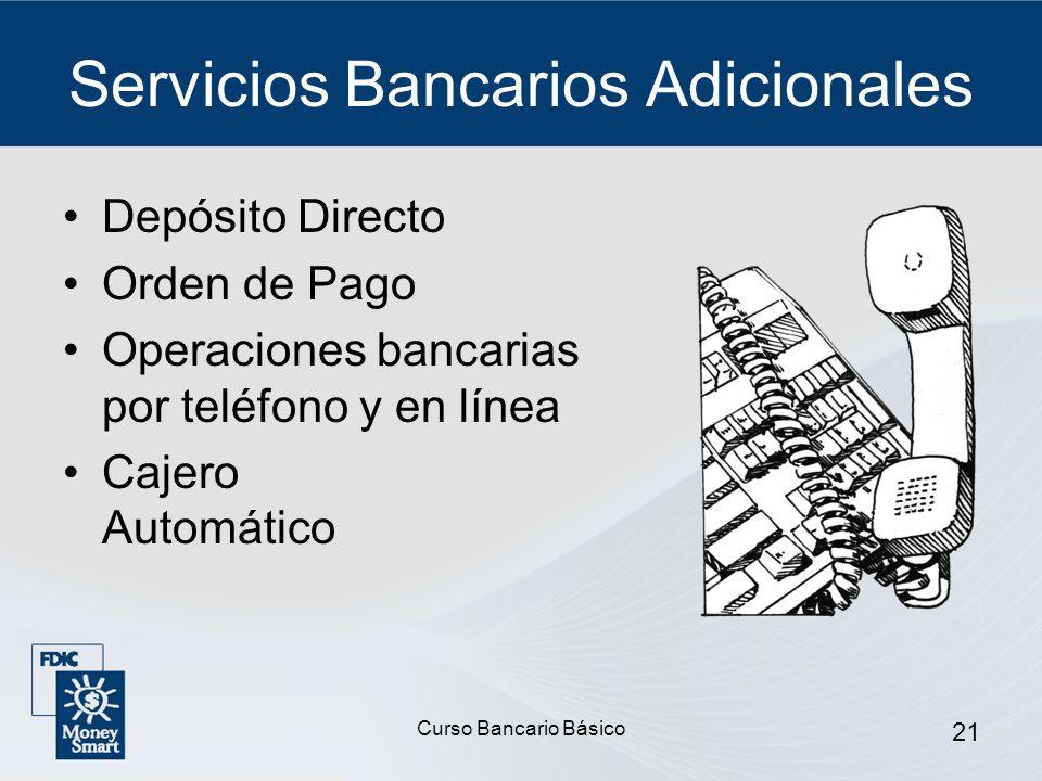 Servicios Bancarios Adicionales