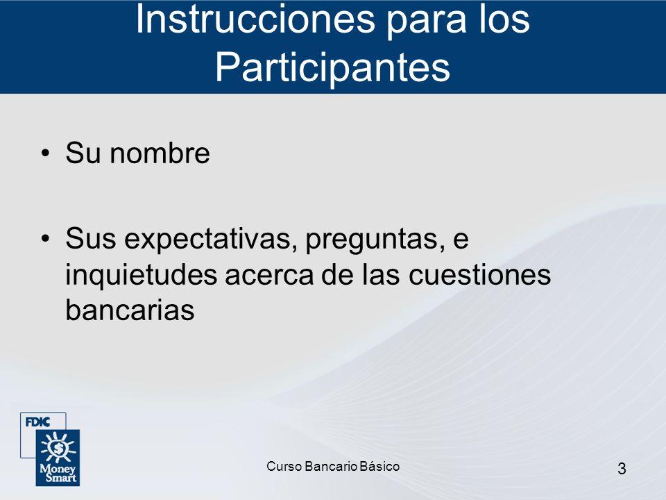 Instrucciones para los Participantes