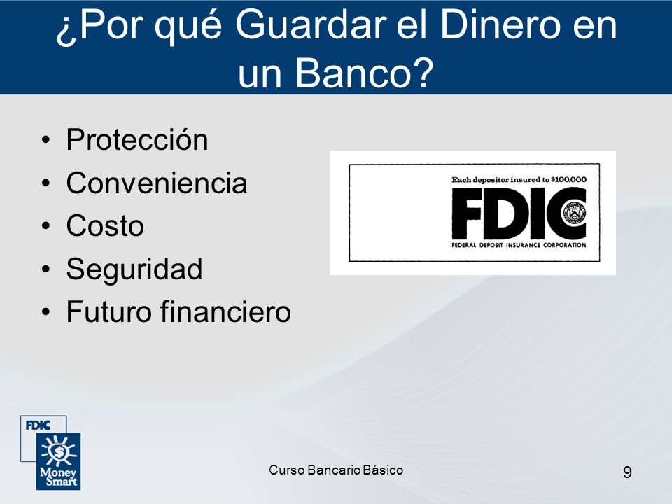 ¿Por qué Guardar el Dinero en un Banco