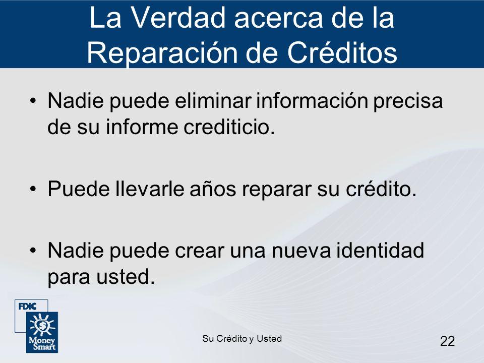 La Verdad acerca de la Reparación de Créditos