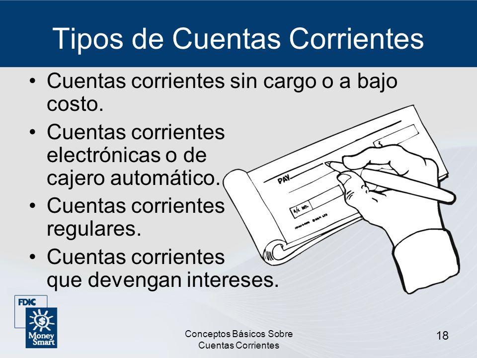 Tipos de Cuentas Corrientes