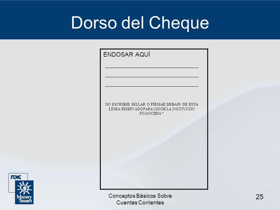 Conceptos Básicos Sobre Cuentas Corrientes