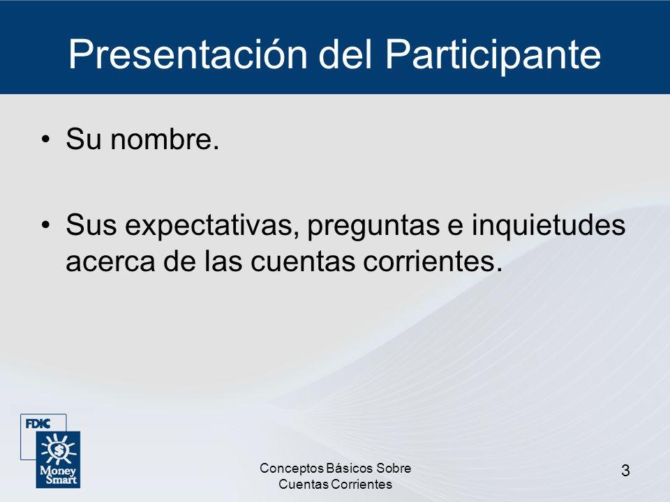 Presentación del Participante