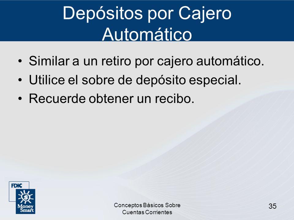 Depósitos por Cajero Automático