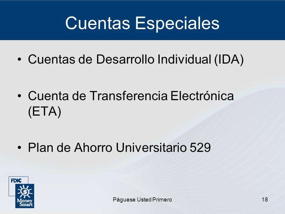 Cuentas Especiales Cuentas de Desarrollo Individual (IDA)
