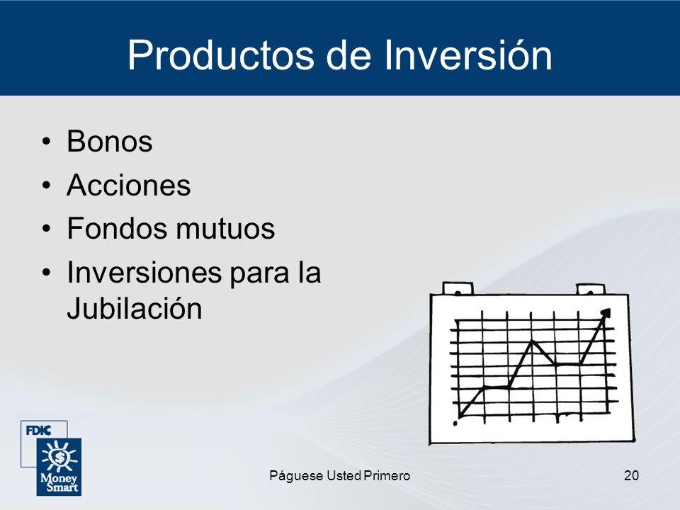 Productos de Inversión