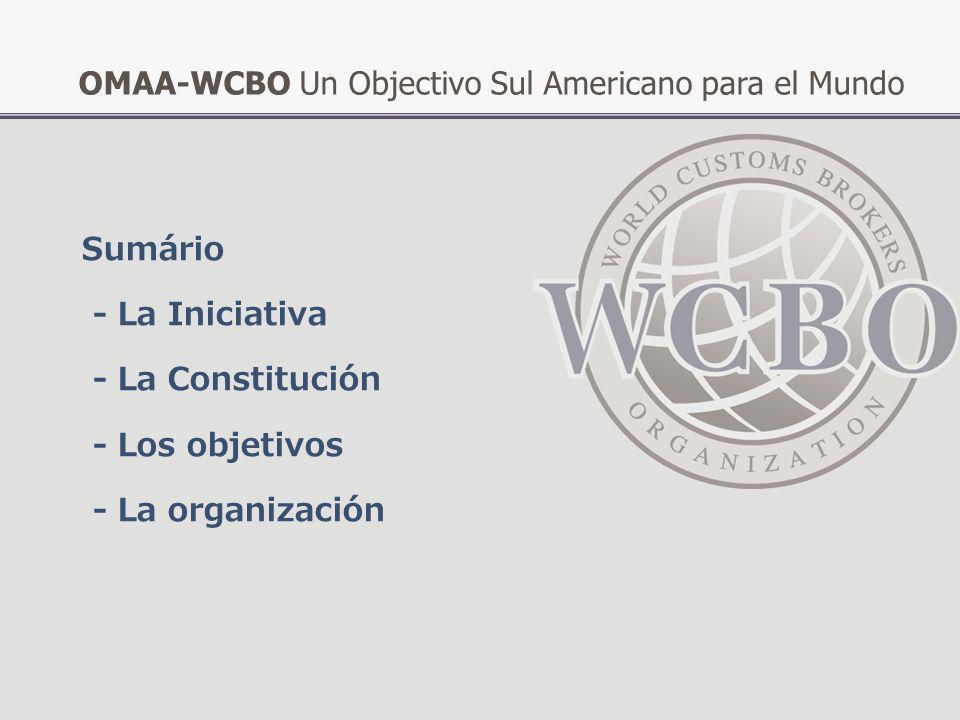 OMAA-WCBO Un Objectivo Sul Americano para el Mundo