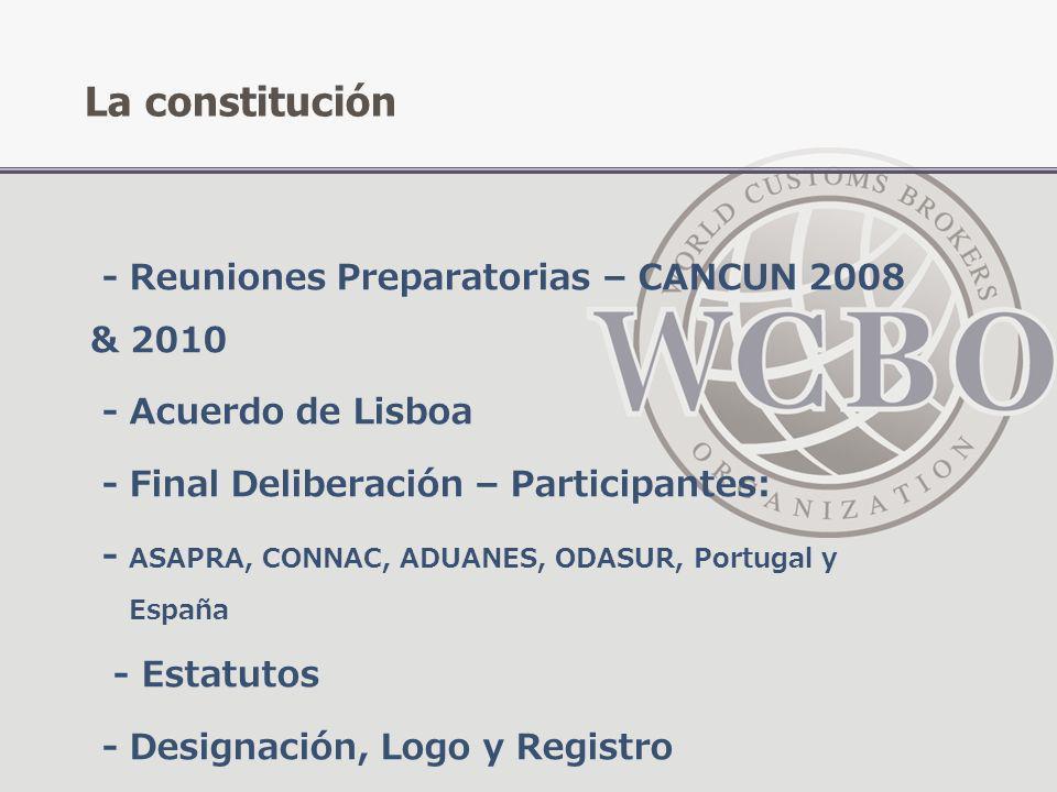 La constitución - Reuniones Preparatorias – CANCUN 2008 & 2010