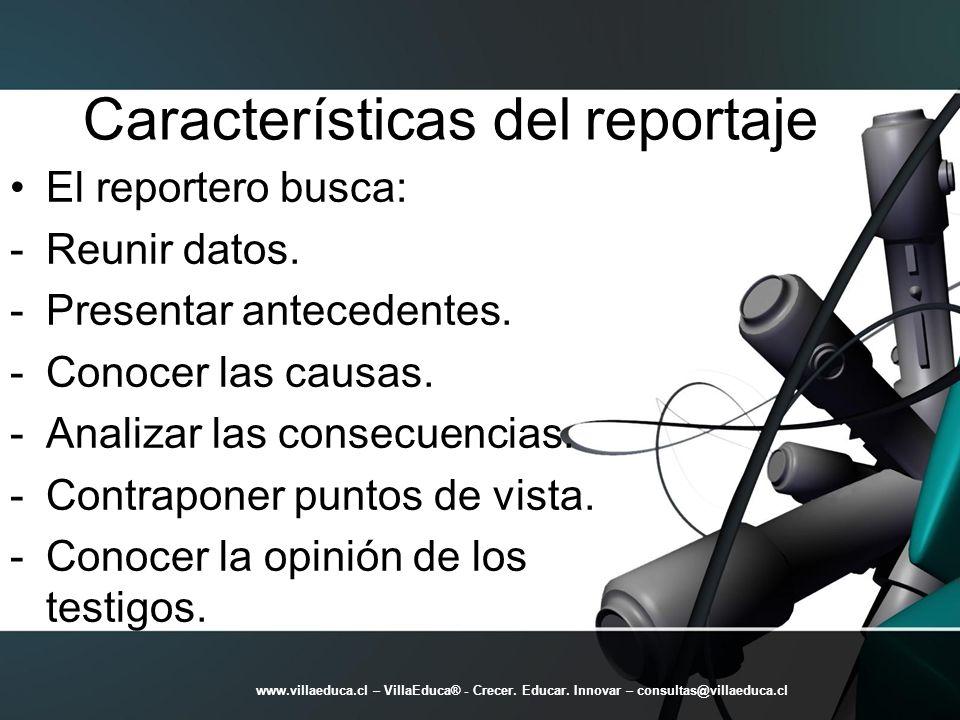 Características del reportaje