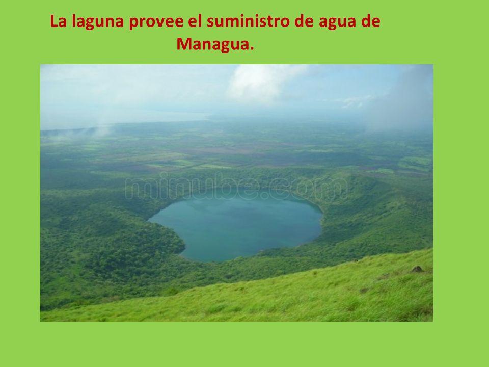 La laguna provee el suministro de agua de Managua.