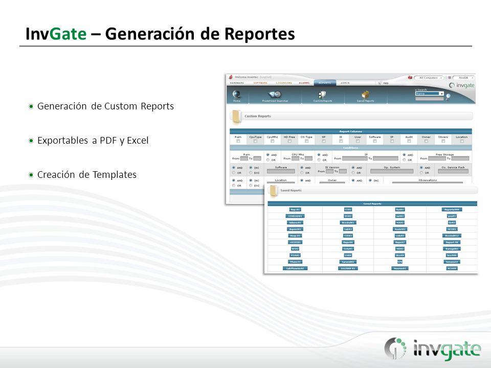 InvGate – Generación de Reportes