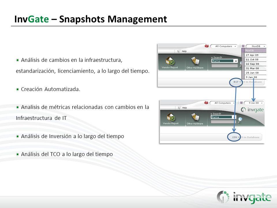 InvGate – Snapshots Management