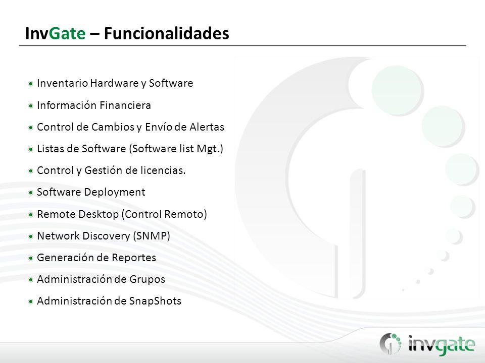 InvGate – Funcionalidades