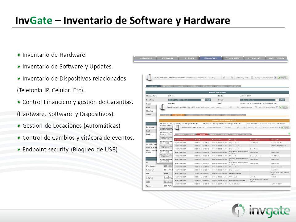 InvGate – Inventario de Software y Hardware