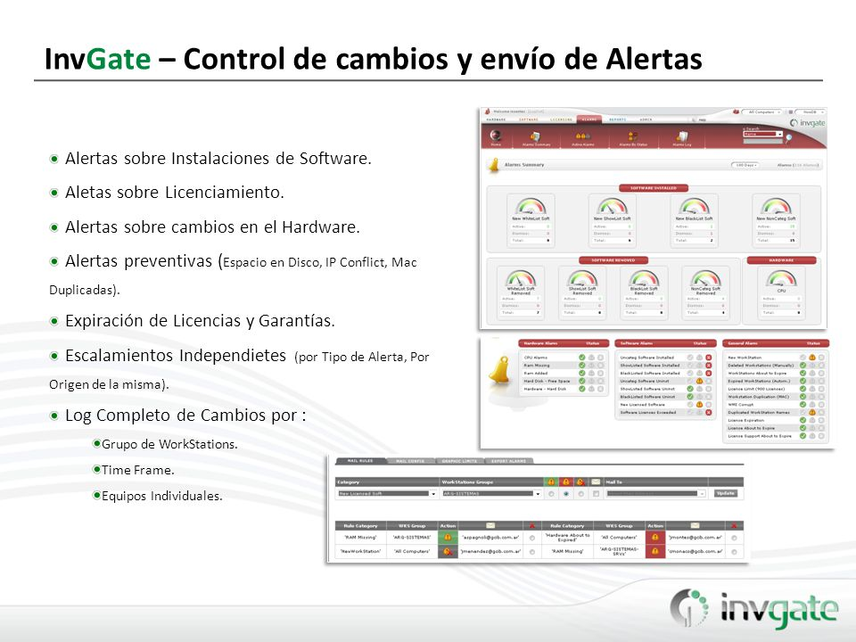 InvGate – Control de cambios y envío de Alertas
