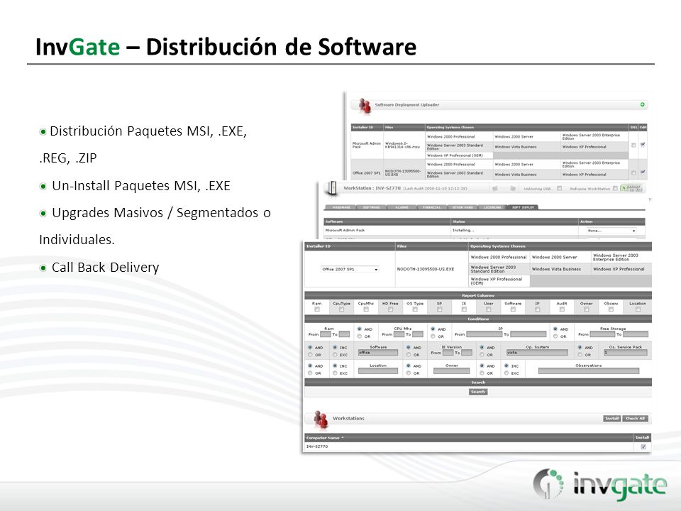 InvGate – Distribución de Software