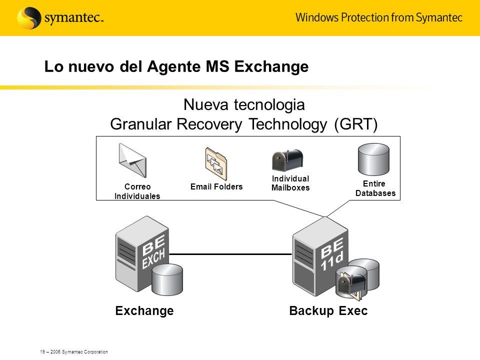 Lo nuevo del Agente MS Exchange