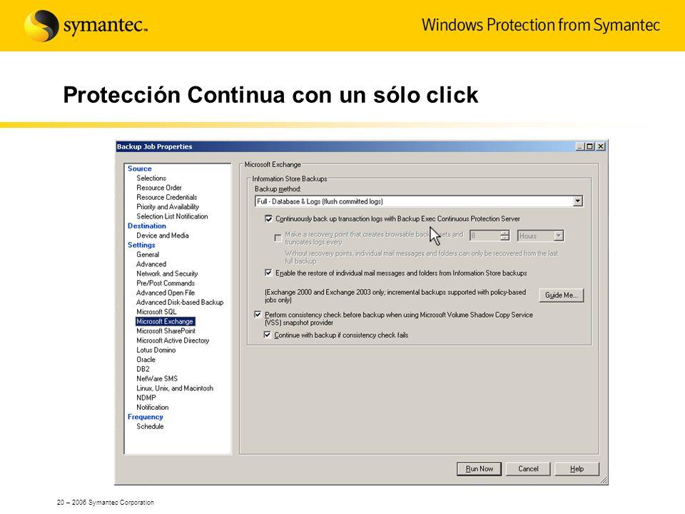 Protección Continua con un sólo click