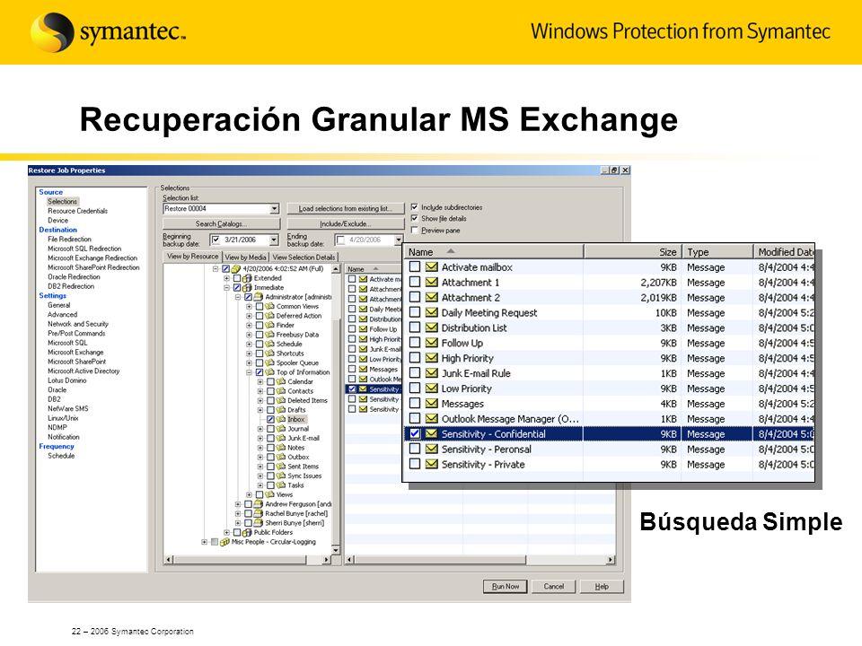 Recuperación Granular MS Exchange