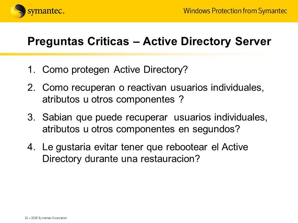 Preguntas Criticas – Active Directory Server