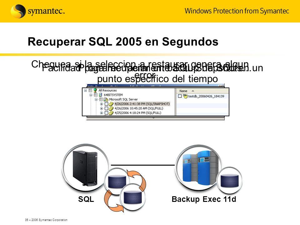 Recuperar SQL 2005 en Segundos