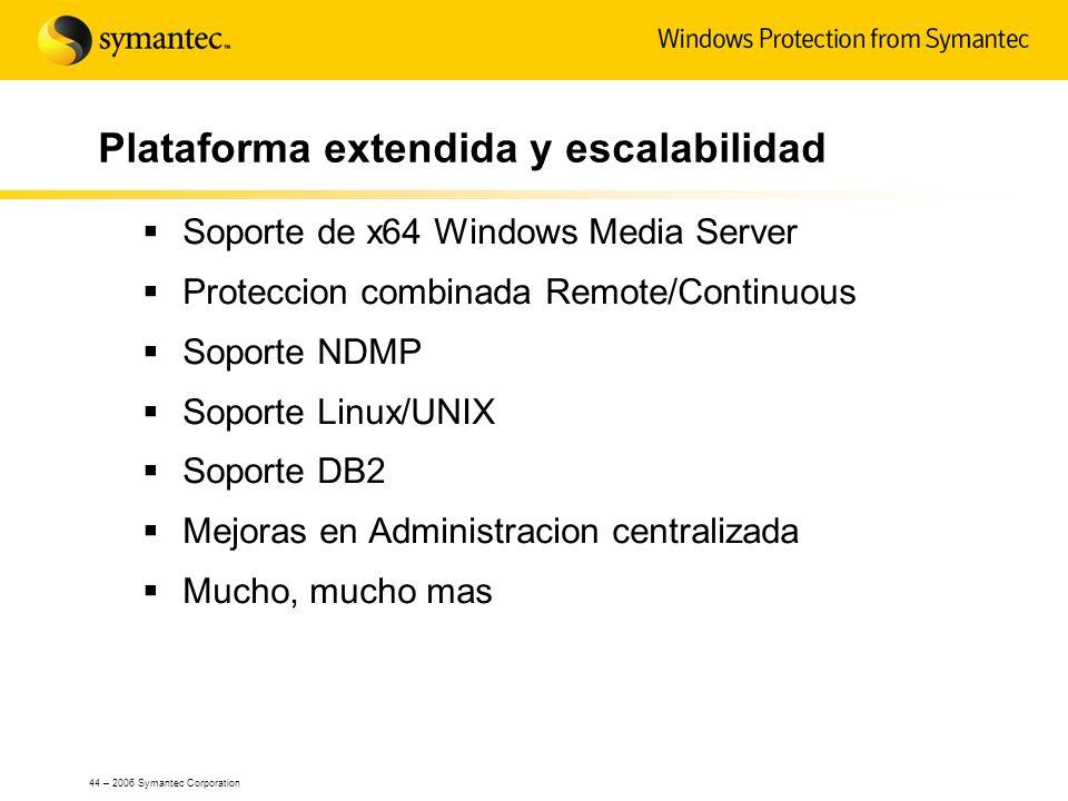 Plataforma extendida y escalabilidad