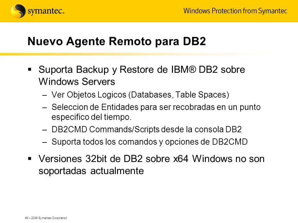 Nuevo Agente Remoto para DB2