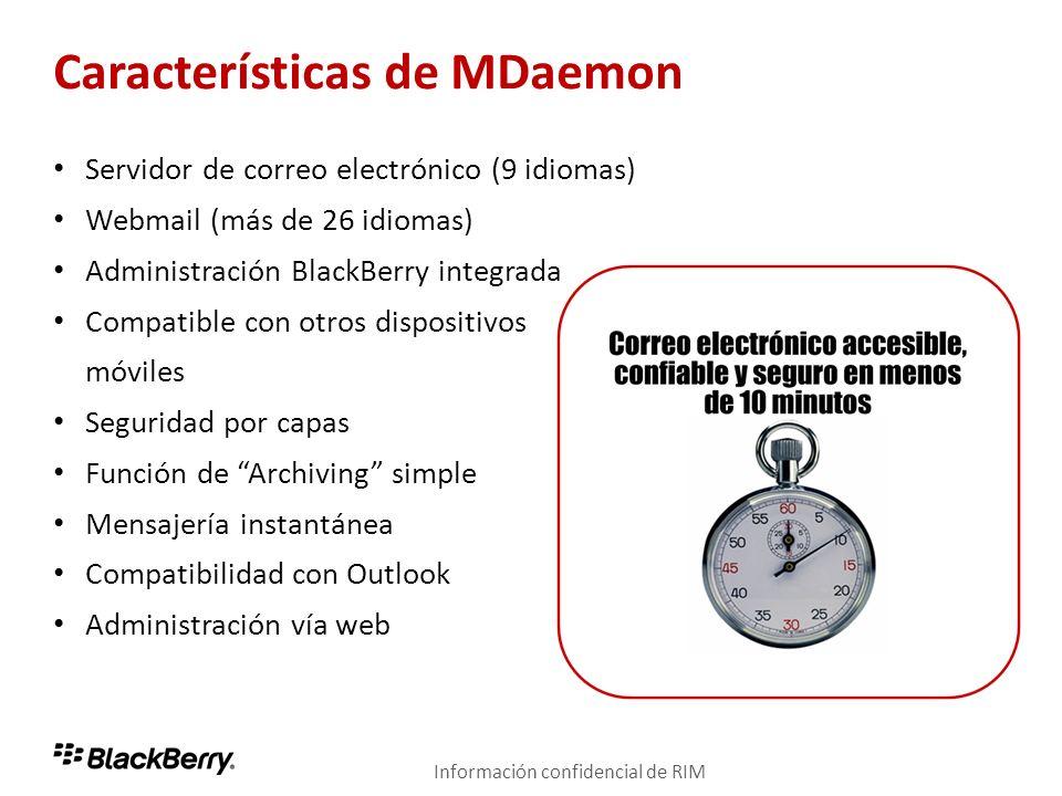 Características de MDaemon