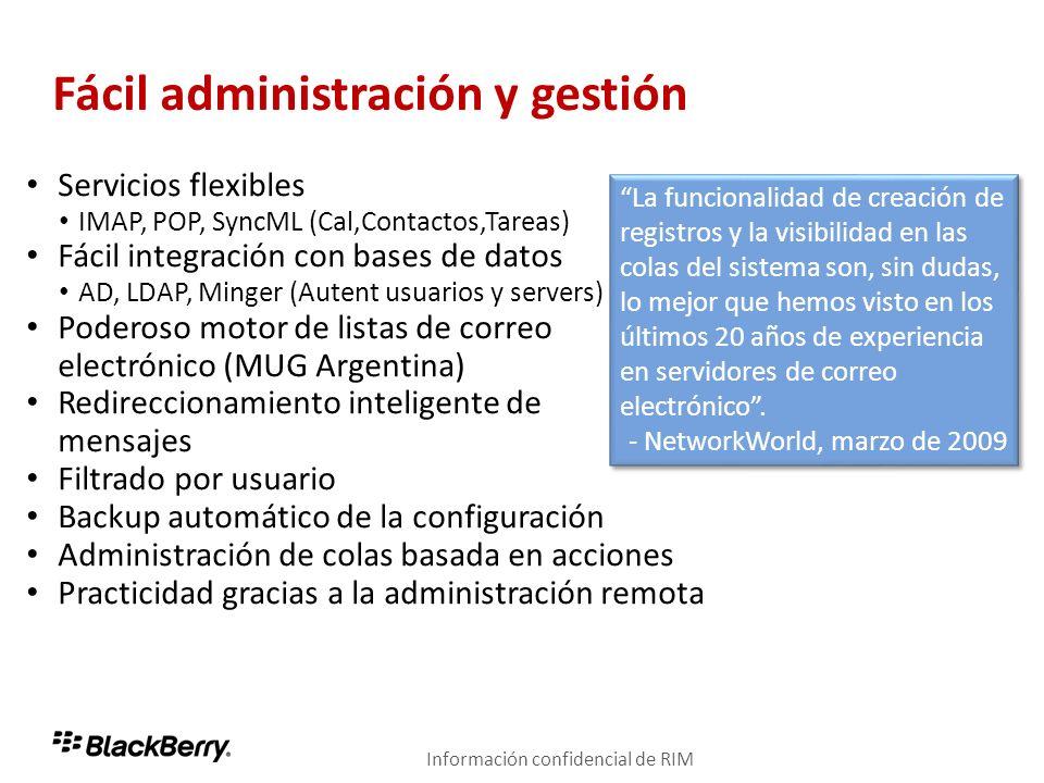 Fácil administración y gestión