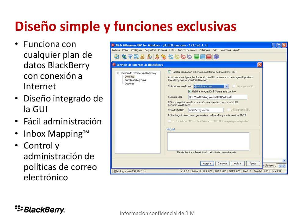 Diseño simple y funciones exclusivas