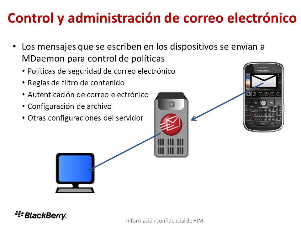 Control y administración de correo electrónico