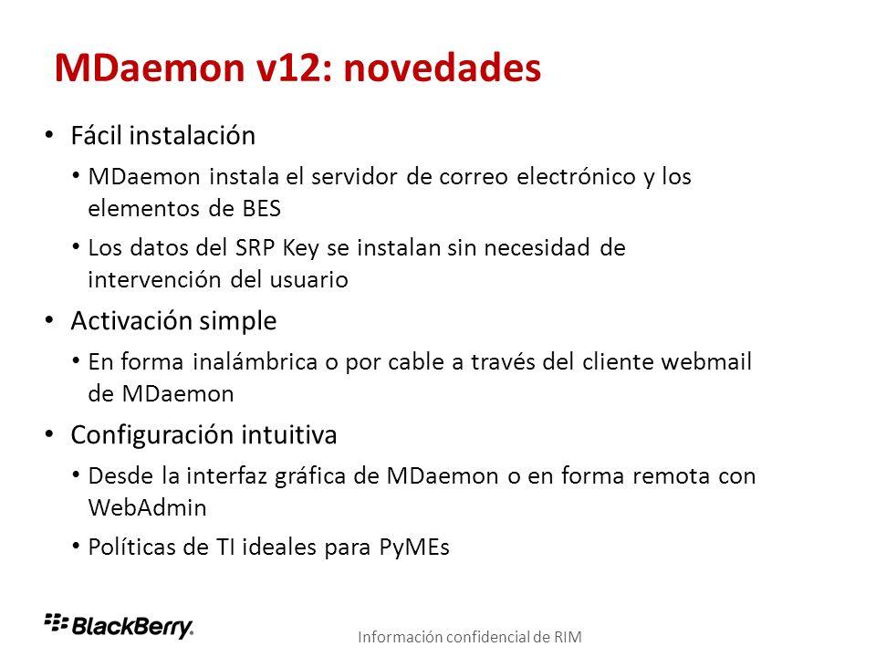 MDaemon v12: novedades Fácil instalación Activación simple