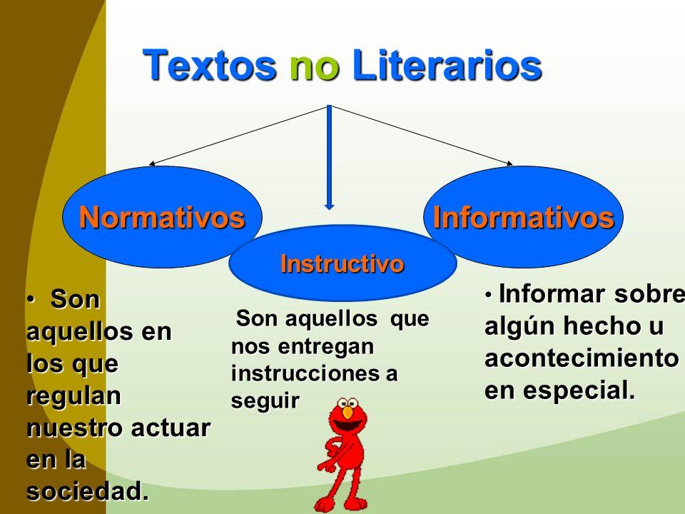 Textos no Literarios Normativos Informativos