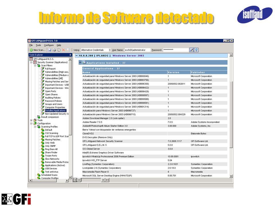 Informe de Software detectado