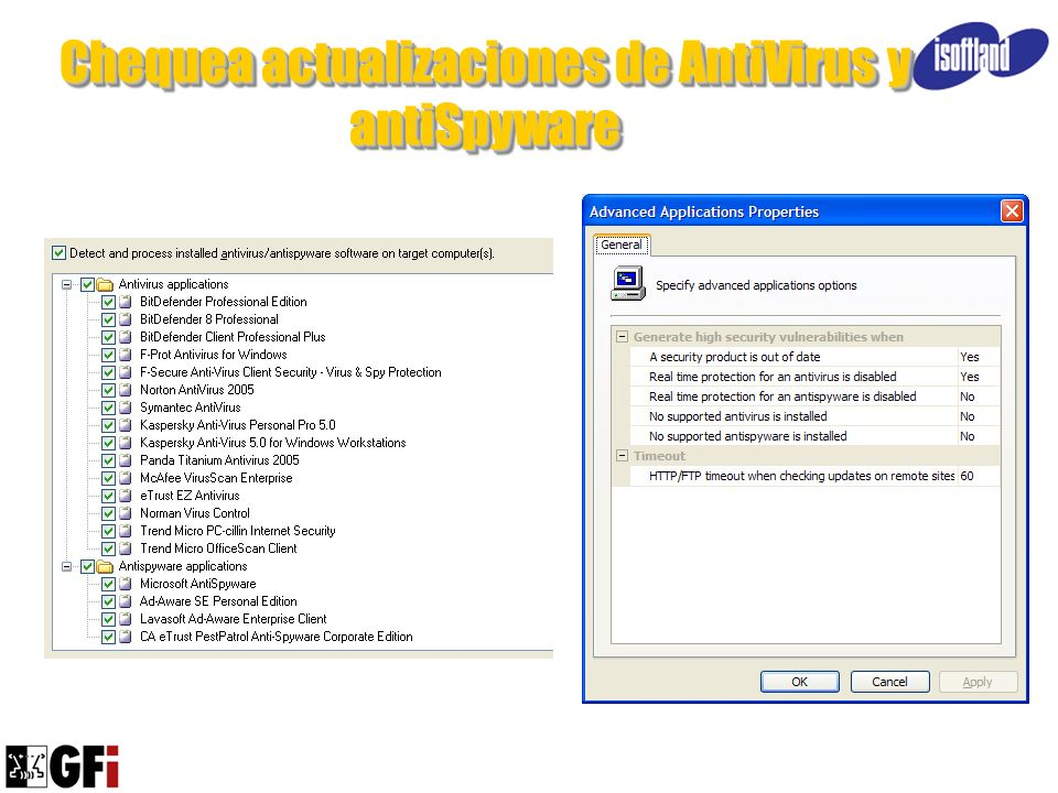 Chequea actualizaciones de AntiVirus y antiSpyware