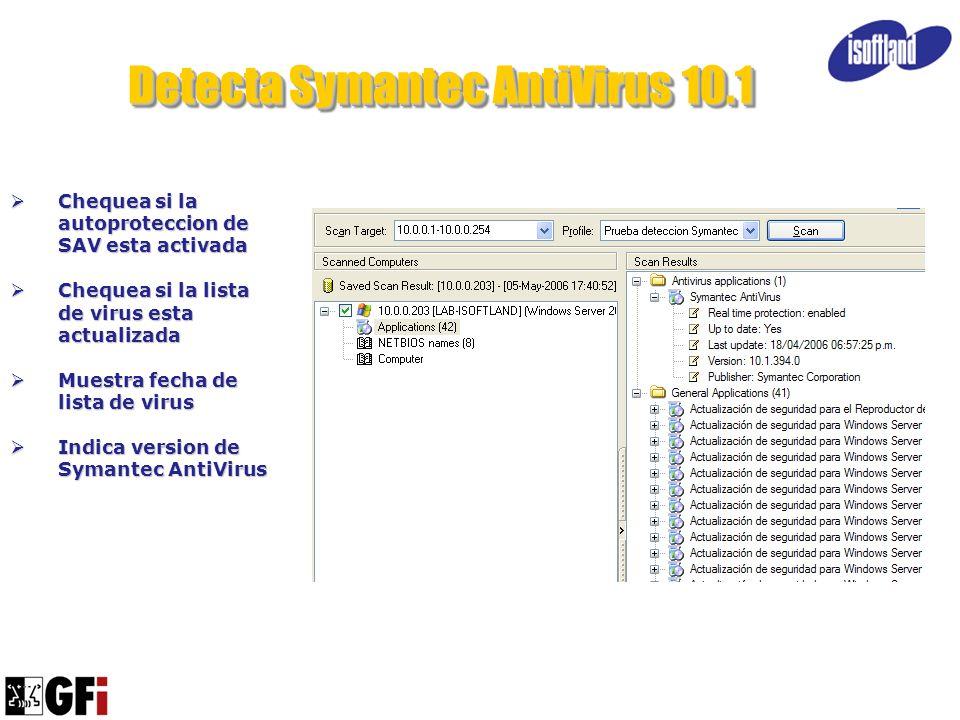 Detecta Symantec AntiVirus 10.1