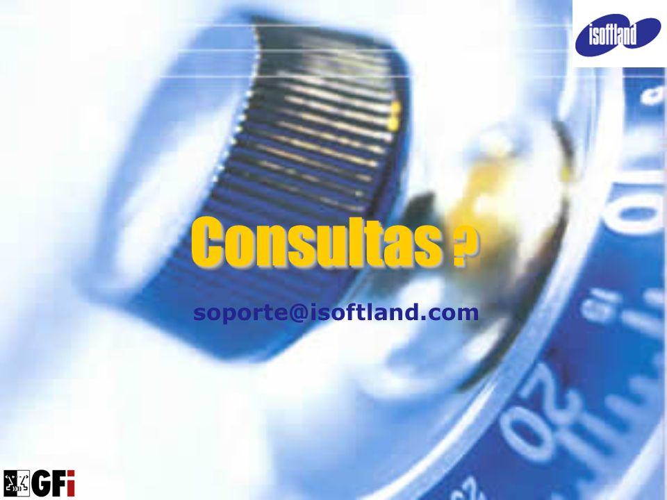 Consultas soporte@isoftland.com