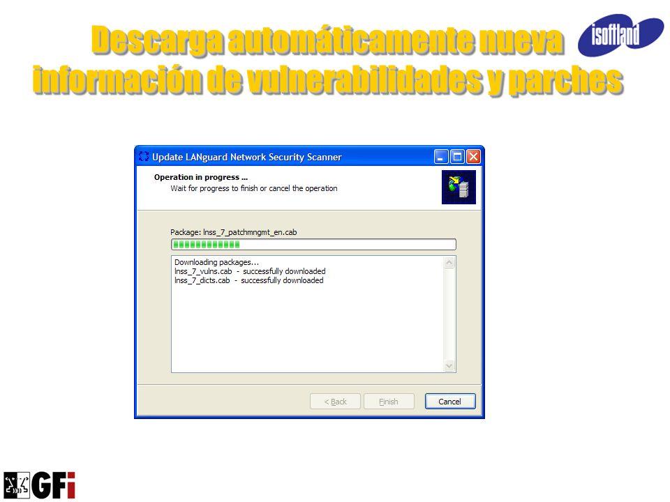 Descarga automáticamente nueva información de vulnerabilidades y parches