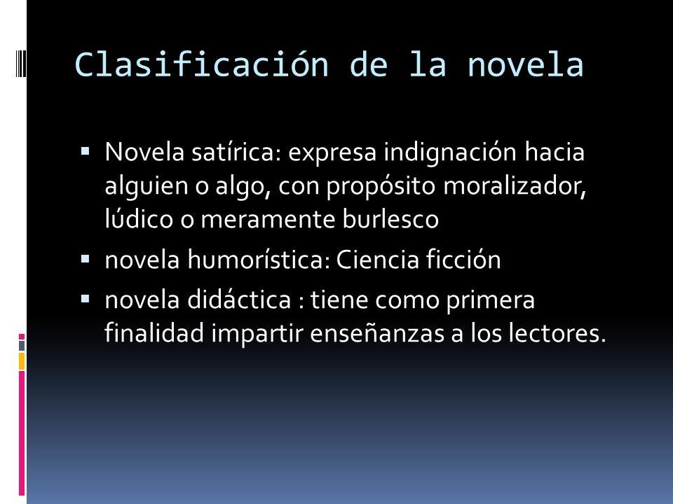 Clasificación de la novela