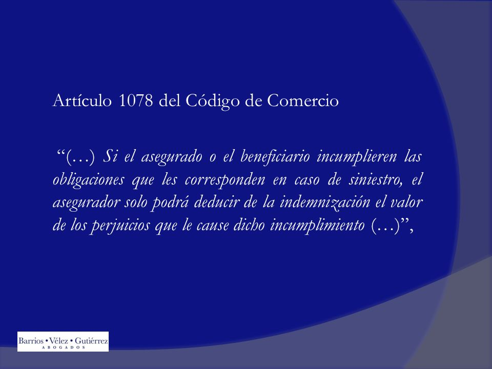 Artículo 1078 del Código de Comercio